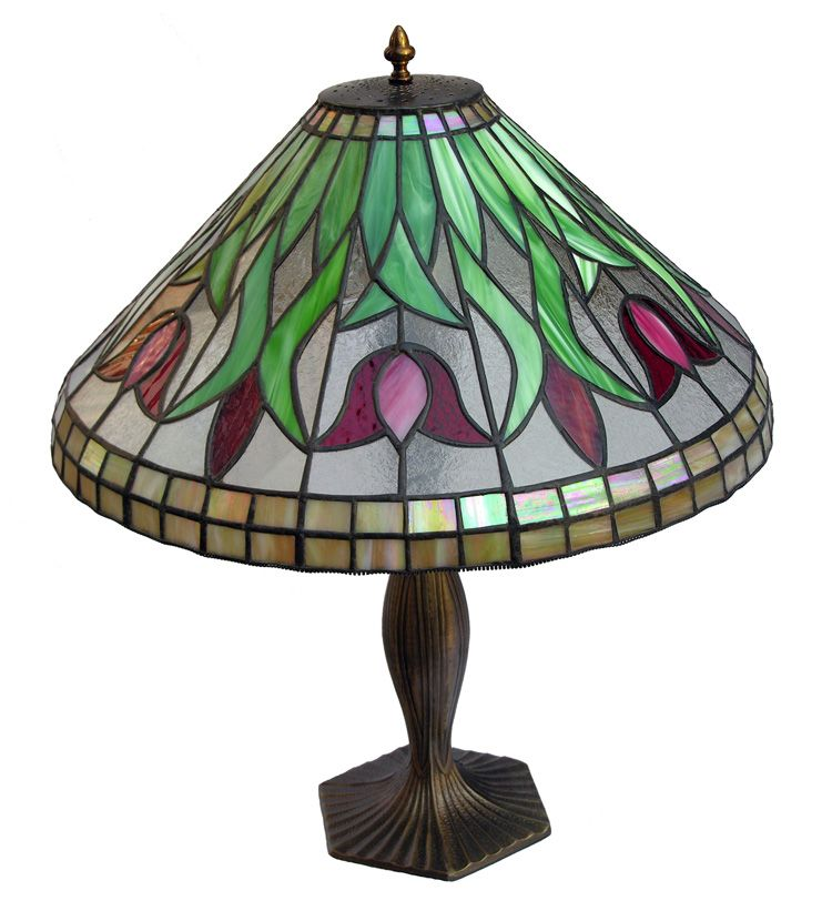Lamps Large Tulip Lamp Stained Glass Lamps Tiffany