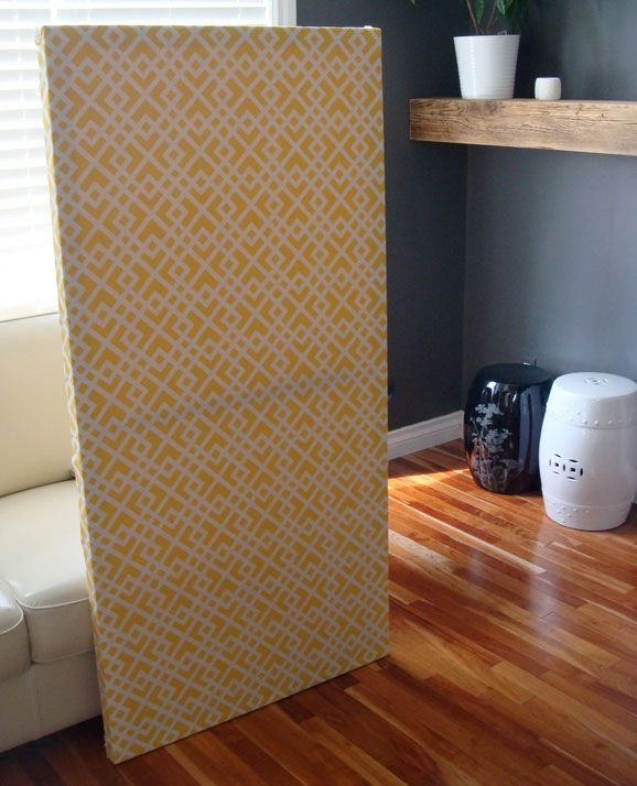 Diy Room Divider With Artist Canvas Doors