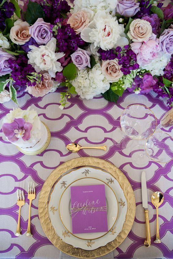 Ultra Violet Tablescape