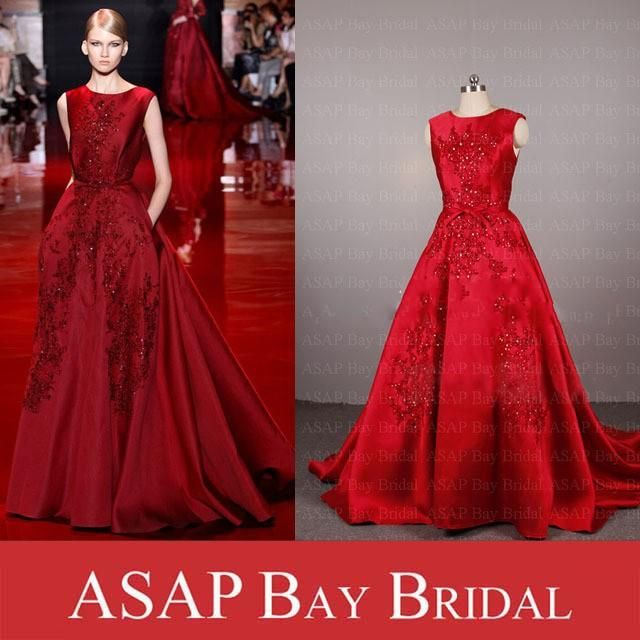6106bdad1f Real Sample Picture Elie Saab Evening Dress A Line Satin Evening ...