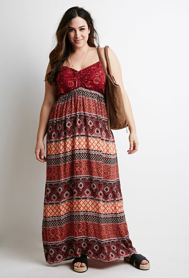 340f6e7ab5f Plus Size Boho Maxi Dress