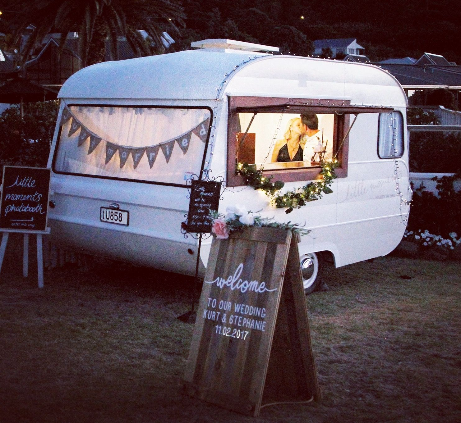 Caravan photobooth available to hire in Auckland and