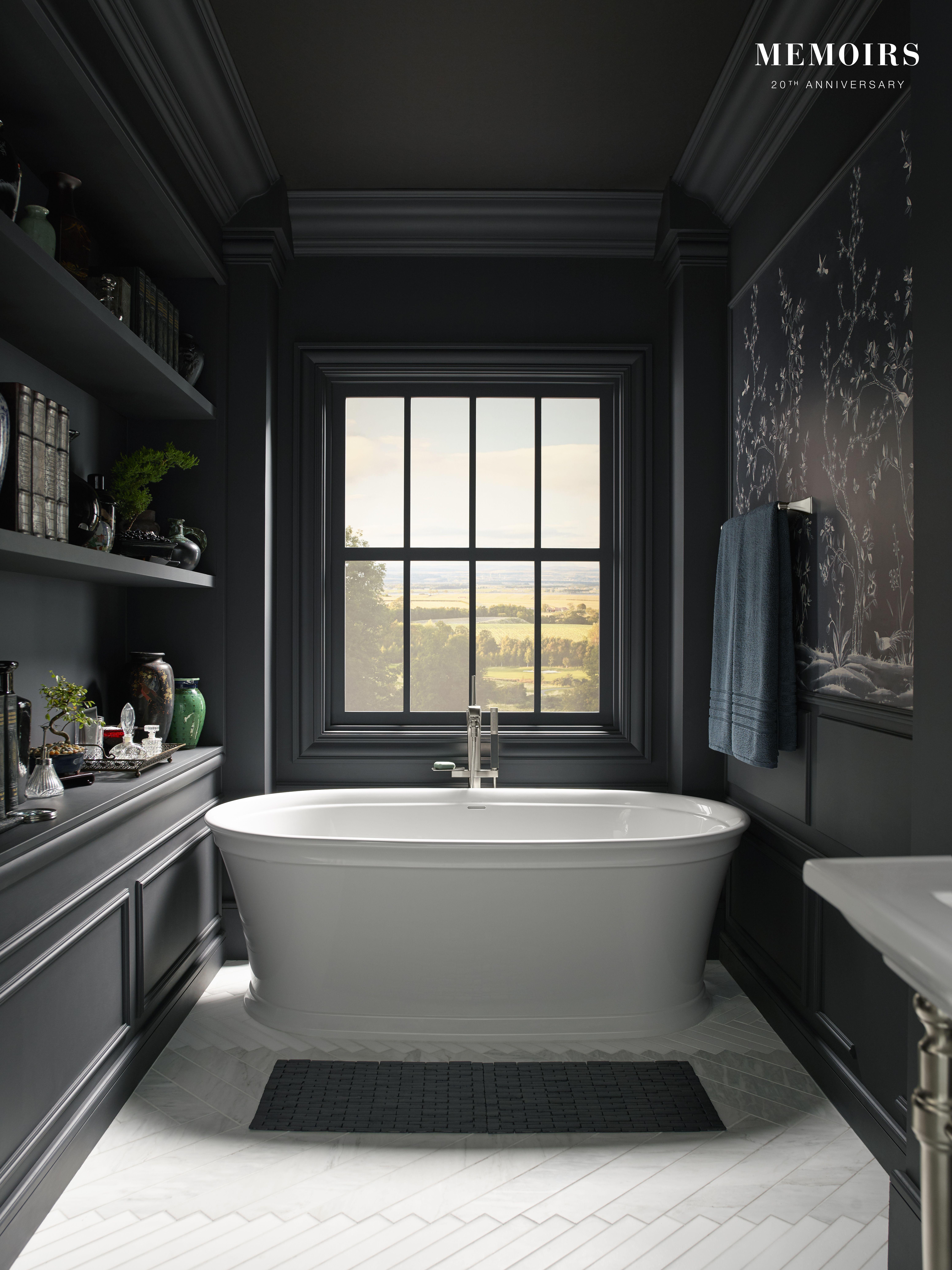 The Freestanding Design Of Kohler S Memoirs Freestanding Bath Tub Creates A Striking Focal Point In Your Bat Bathroom Design Free Standing Bath Modern Bathroom