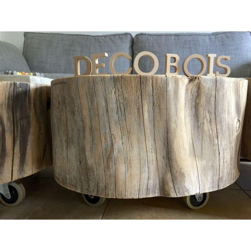 table basse tronc arbre rondin roulette le meuble du photographe d co r cup recyclage. Black Bedroom Furniture Sets. Home Design Ideas