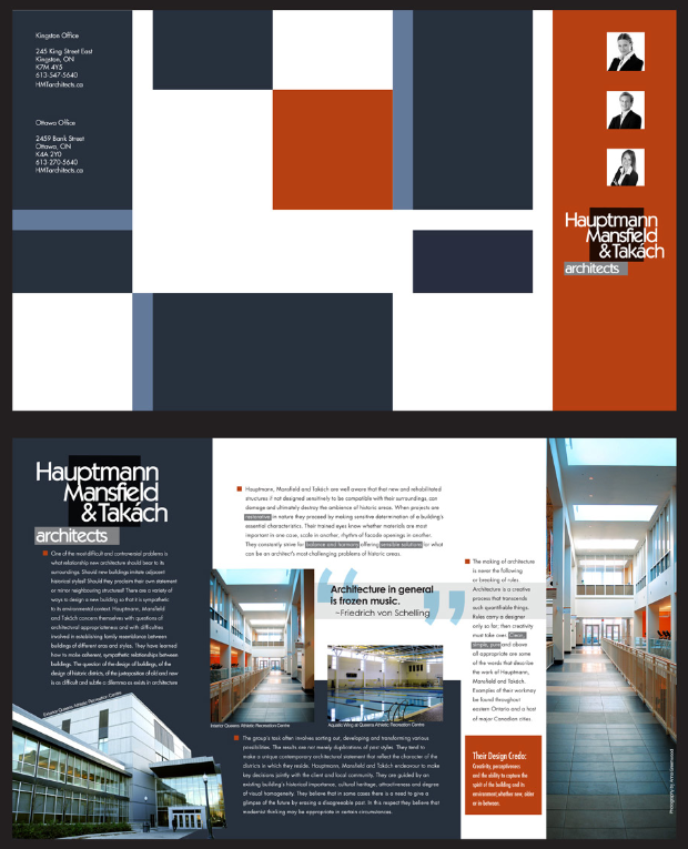 Architectural Firm Brochure Design By Anna Greenwood Playing