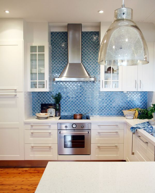 Ish And Chi The Ikea Dream Kitchen Project New Amazing Blue Backsplash With Moroccan Tiles