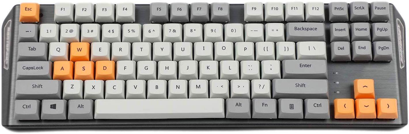 Arrial Xda 87 Ansi Gris Orange Mixte Keyset Dye Sub Impression Par Sublimation Touches Mx Clavier Me Clavier Accessoire Informatique Informatique