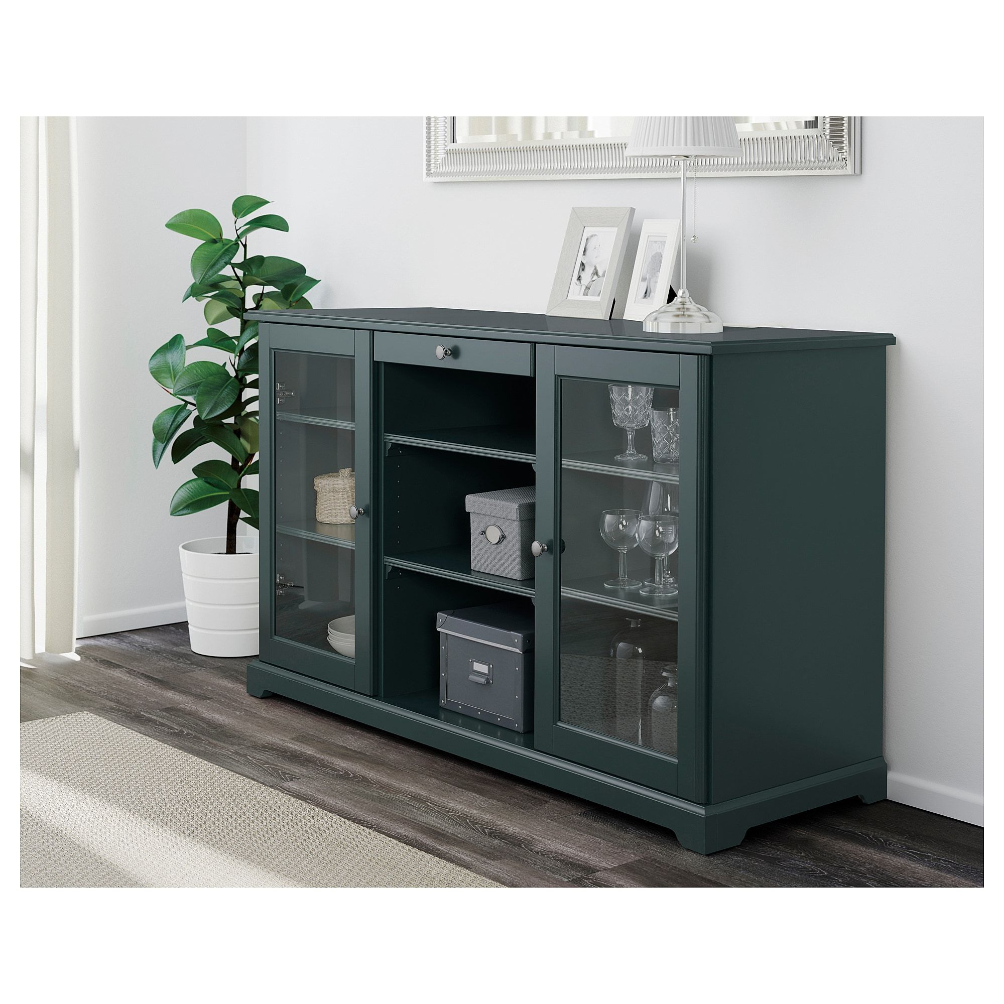 Buffet Pas Cher Ikea Ikea Liatorp Sideboard Dark Olive Green In 2019 Products