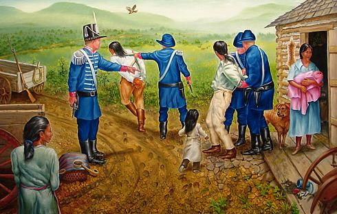 The sufferings of the native americans during the trail of tears