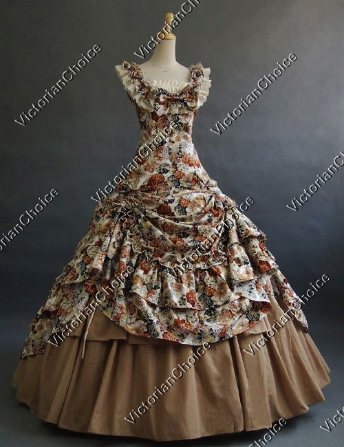 Civil War Southern Belle Ball Gown Period Dress Theatre Quality Costume #dressesfromthesouthernbelleera