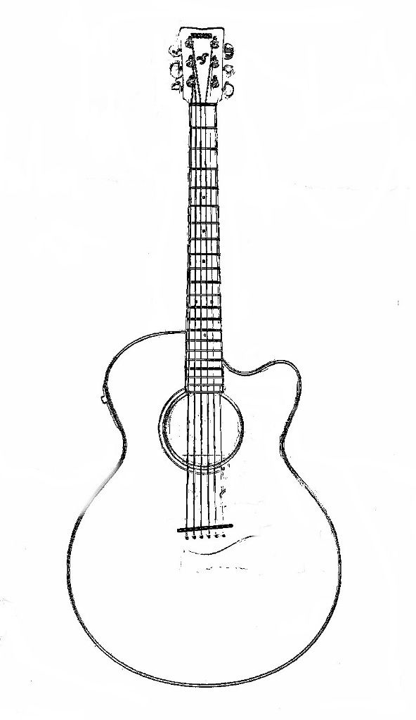 Guitar Coloring Page « Previous Image Next Image