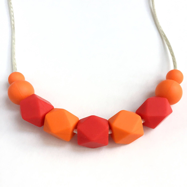 Silicone Teething Necklace, Bite Beads, Nursing Necklace, Teether Chewing Beads, Chew Jewelry Beads, Teething Jewelry, Baby Teether by Okrosh on Etsy