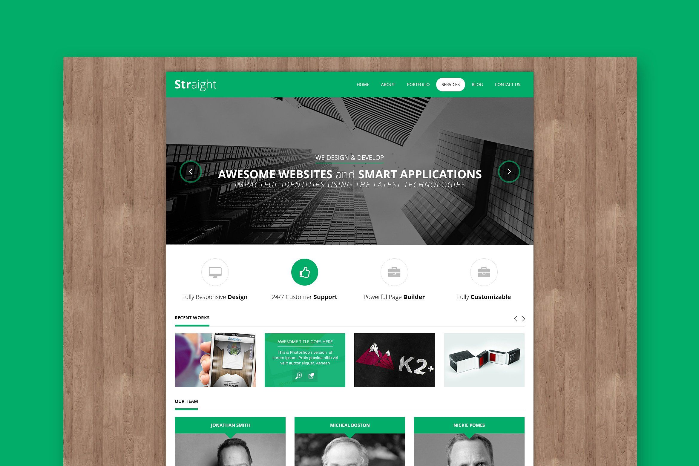 Straight Creative HTML Template formPageHomepage