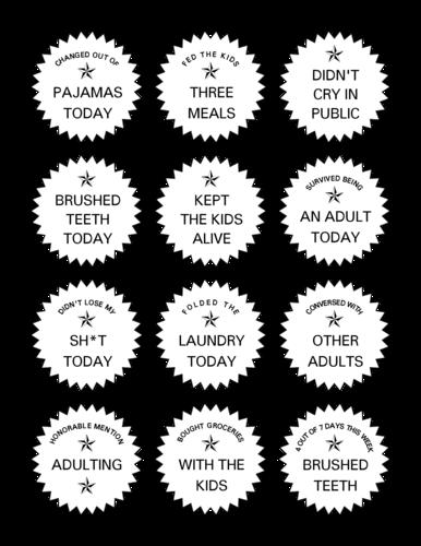 Adulting Stickers Free Printable Printing Labels Custom