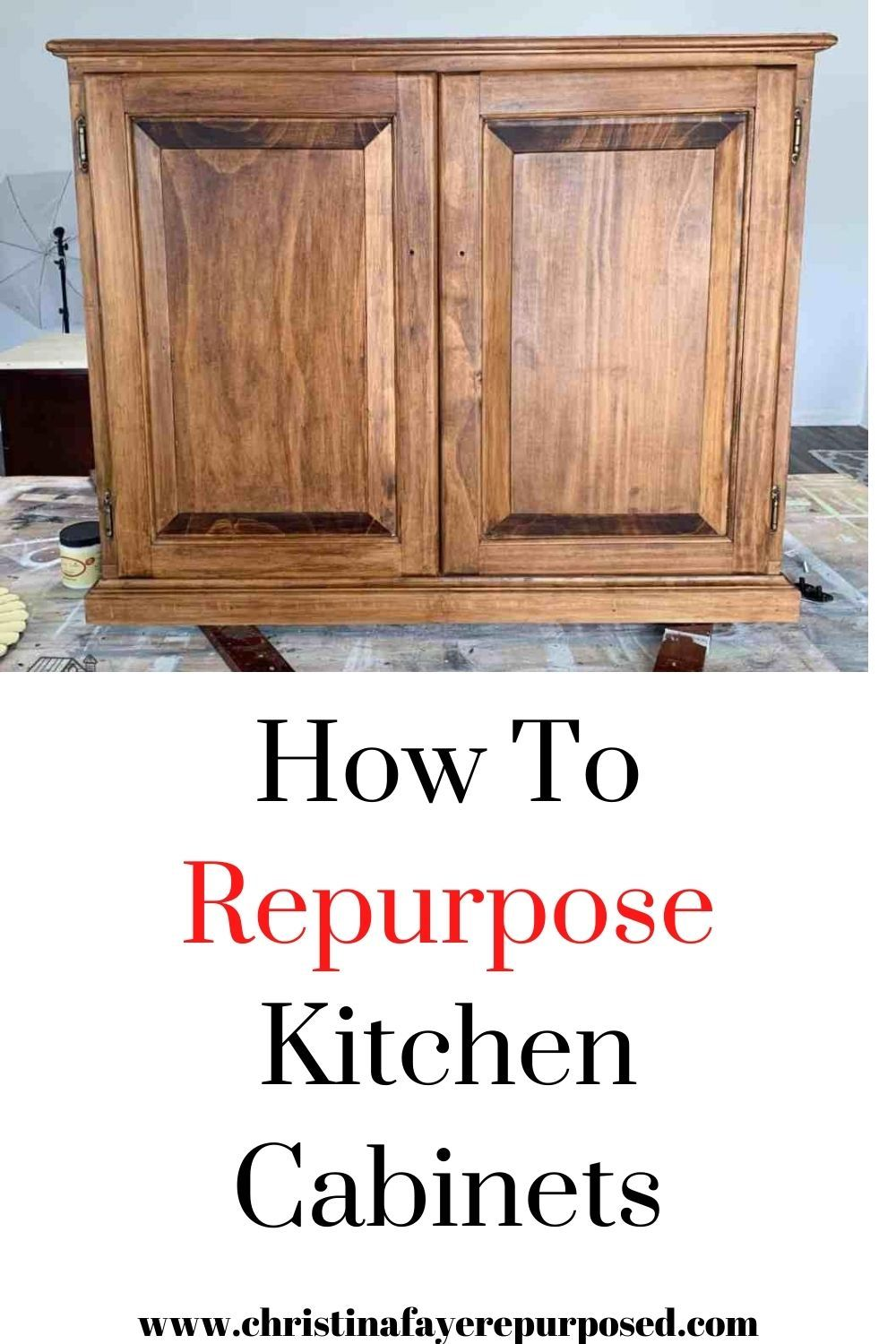 Repurposed Kitchen Cabinet Christina Faye Repurposed In 2020 Repurposed Kitchen Diy Kitchen Cabinets Repurposed Furniture