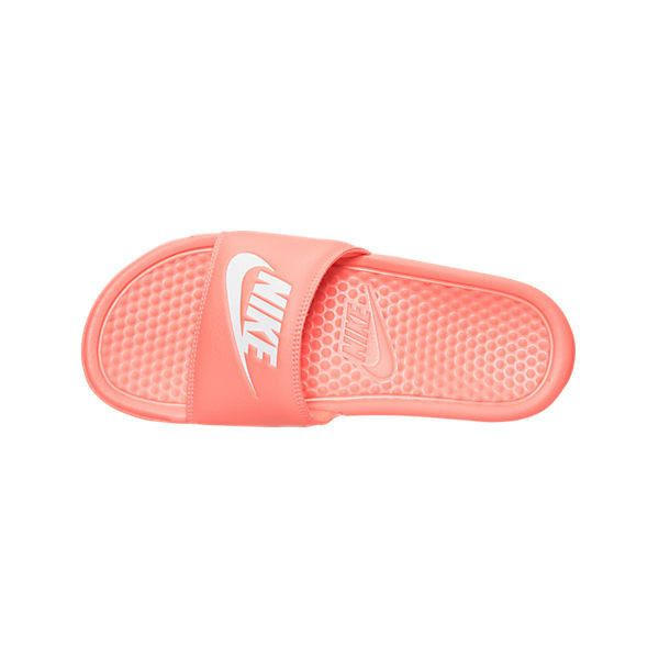 5519931297f3 Nike Women s Benassi JDI Swoosh Slide Sandals ( 25) ❤ liked on Polyvore  featuring shoes