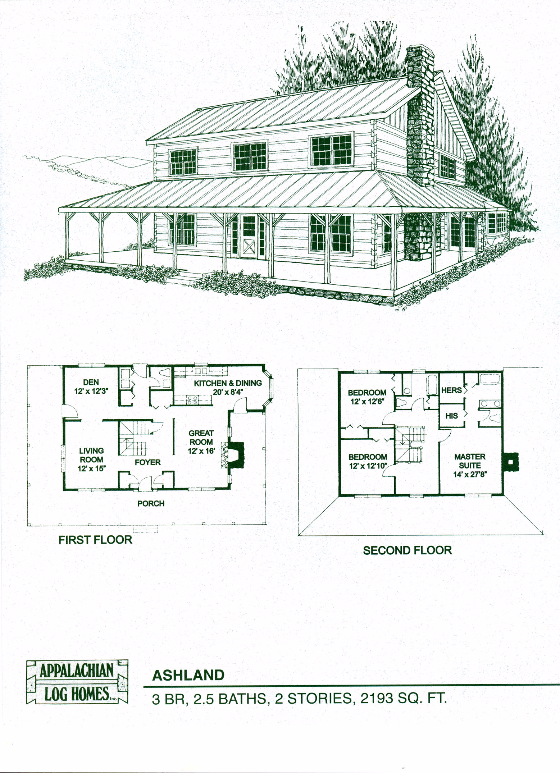 Ashland 3 Bed 2 5 Bath 2 Stories 2193 Sq Ft Appalachian Log Timber Homes Hybrid Home F Log Cabin Floor Plans Log Home Floor Plans House Floor Plans