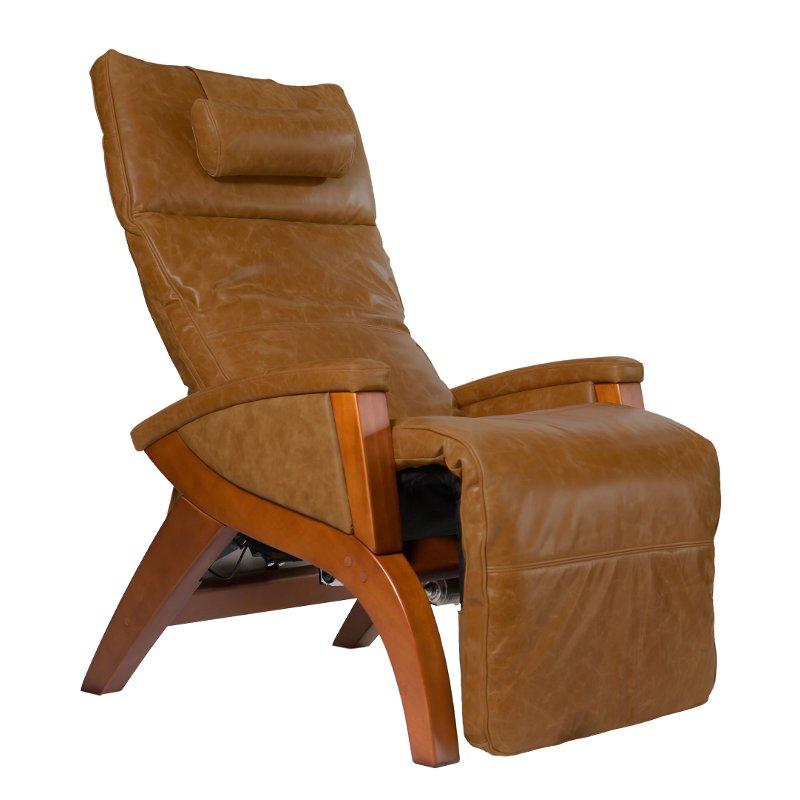 Caramel Brown Leather Zero Gravity Massage Chair Svago Recliner Massage Chair Wall Hugger Recliners