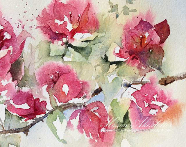 World Watercolor Month Day 20 California Dreaming Bouganvilla