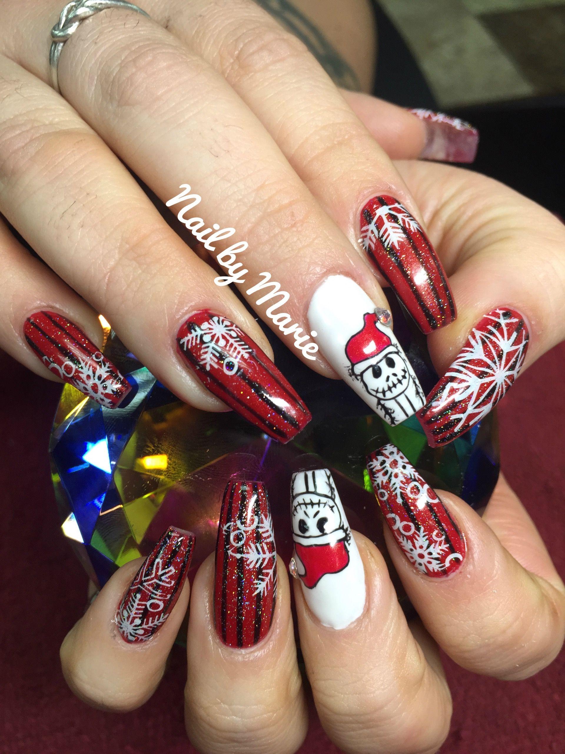 "Jack Skellington ""Santa Jack"" Disney Nail Art | Christmas ..."