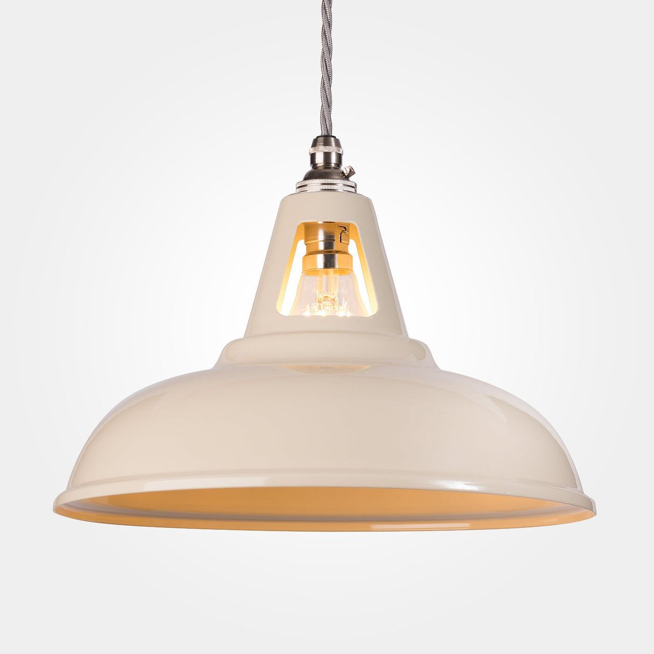 Coolicon industrial pendant light ivory pendant lighting