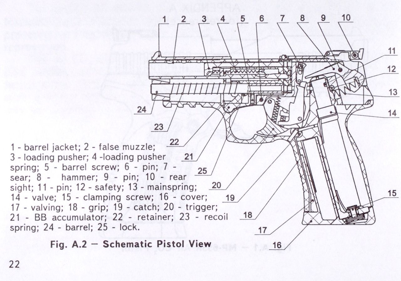 airsoft pistol handgun diagram