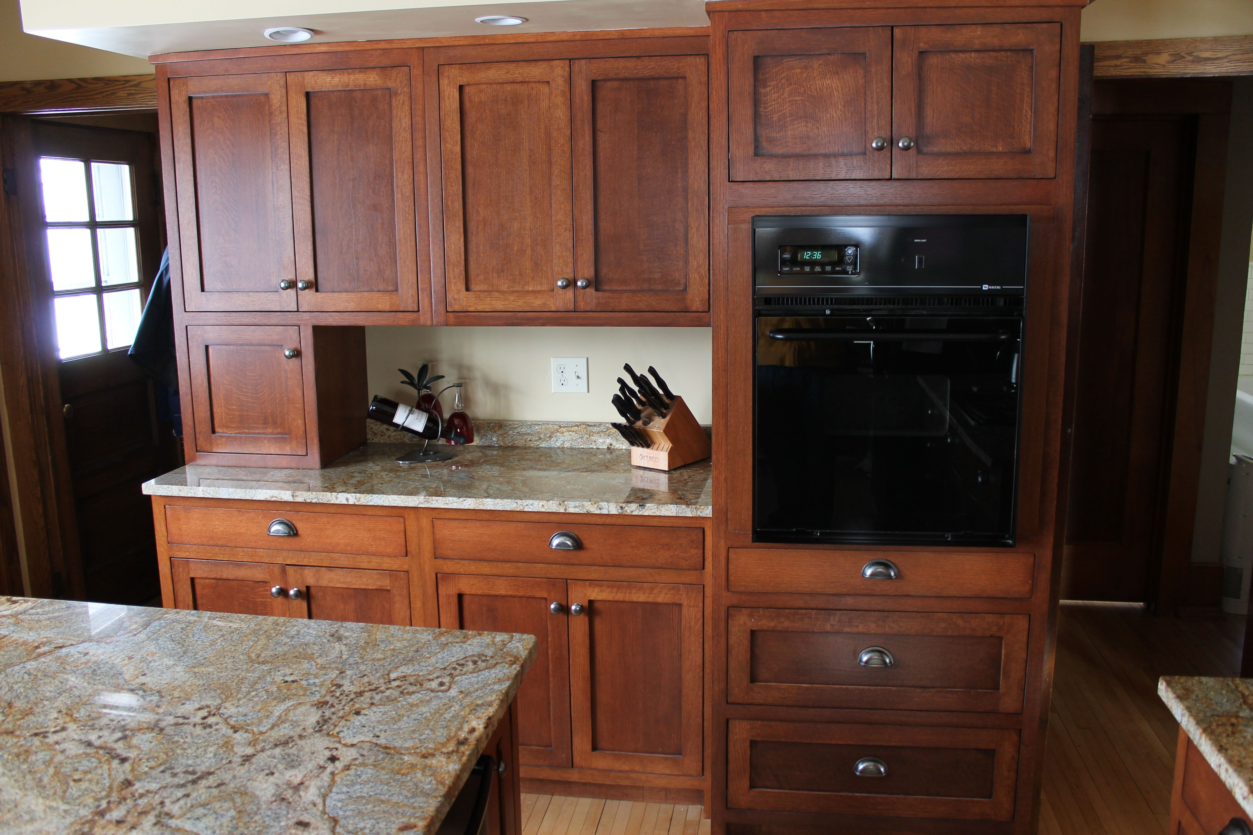 Red Oak Kitchen Cabinets Pantry Storage Cabinet Quarter Sawn Different Colors Of Travel In And Out Style Throughout Recent Years An Attractive Color May Be