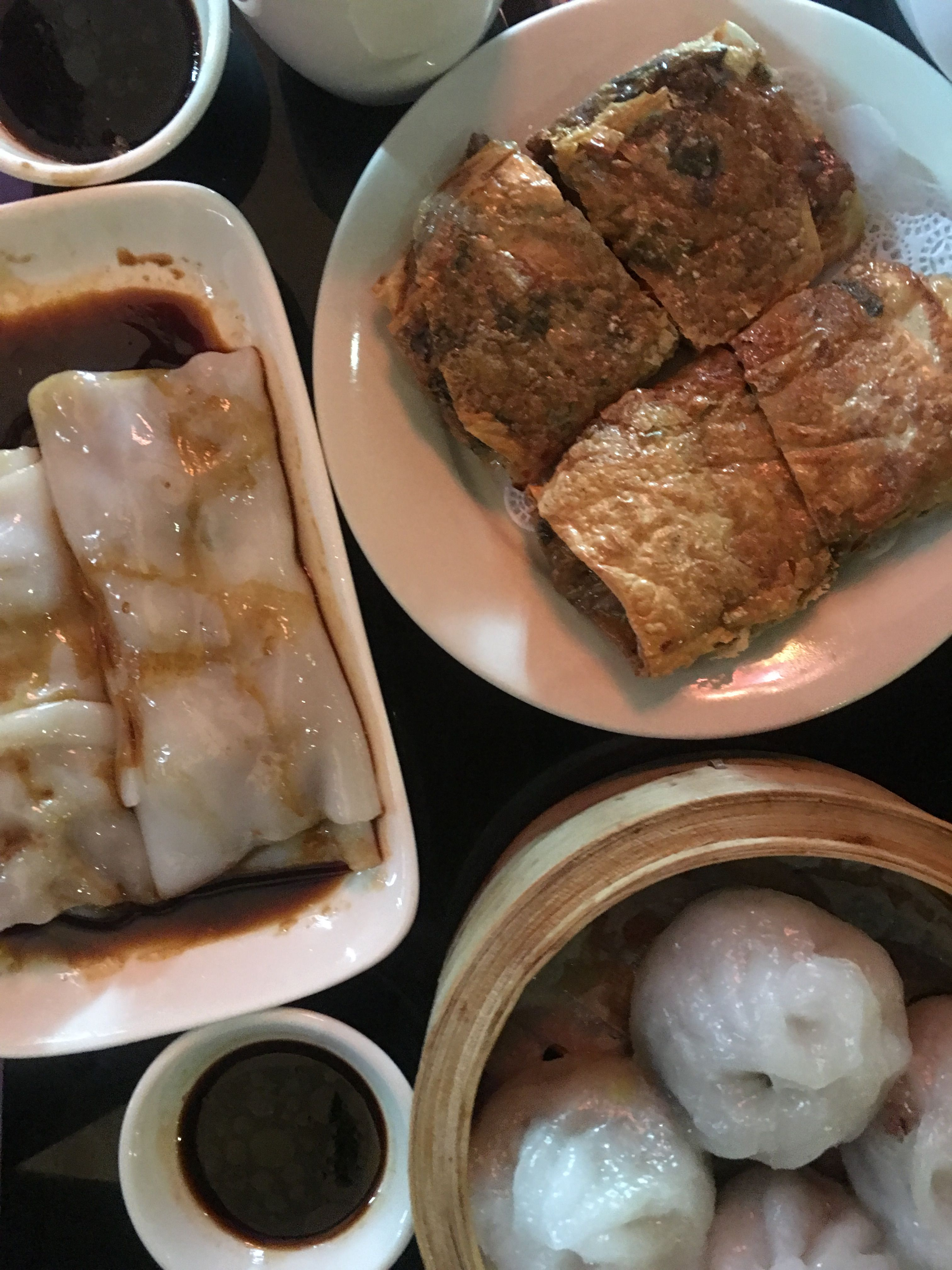 This Great Dim Sum Is From Hong Kong Bakery Bistro In Albany Ny Pictured Here Are Beef Noodles Shrimp Dumplings A Food Dim Sum Beef And Noodles