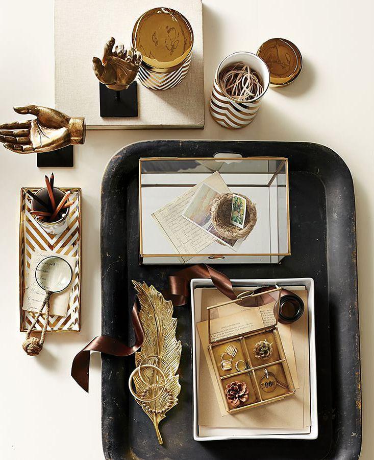 Gold Chevron Accessories Mosaikdesigns, Mosaik