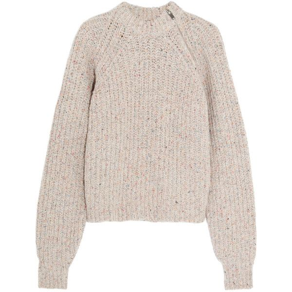 5cc4bacf2f4 Étoile Isabel Marant Happy knitted sweater ($775) ❤ liked on Polyvore  featuring tops, sweaters, beige, multi color tops, colorful tops,  multicolor sweater, ...