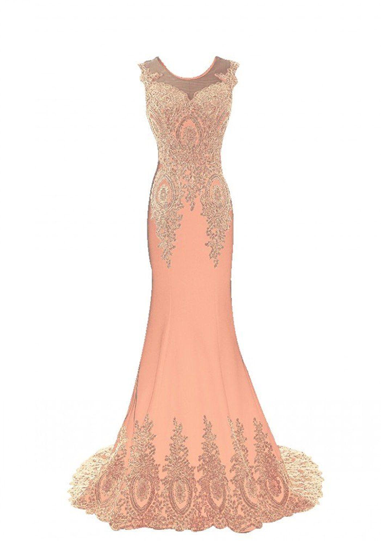 Annieus bridal womenus embroidery long formal mermaid prom evening