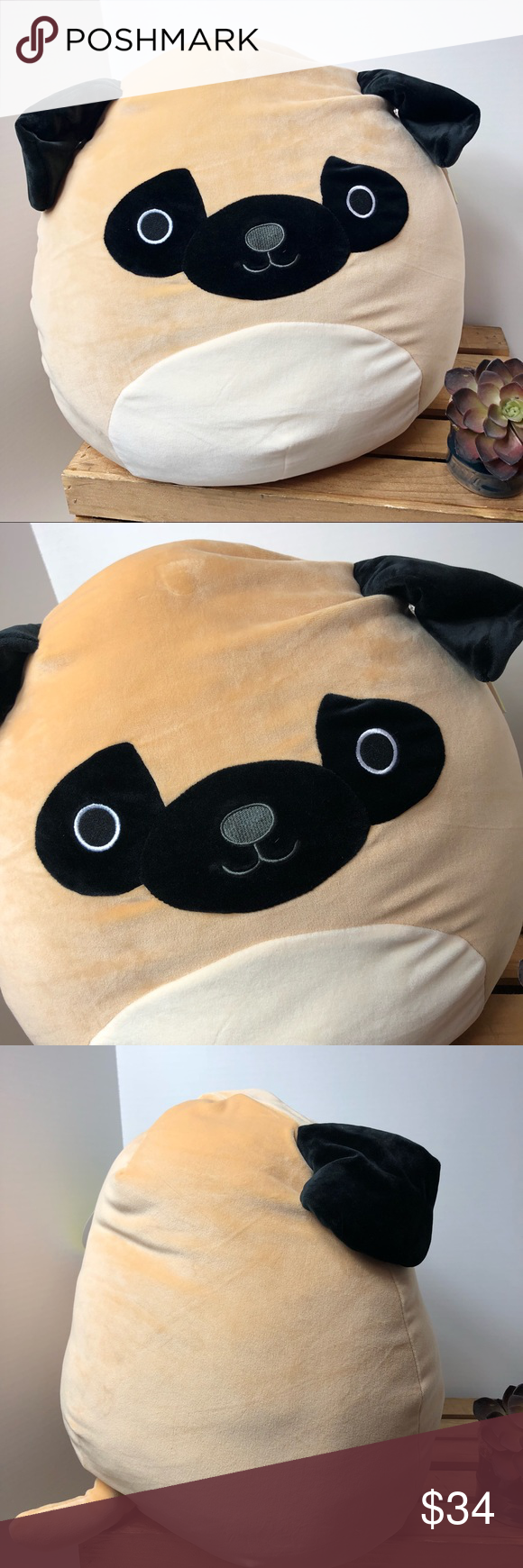 Squishmallow 16 Prince The Pug Kellytoy Plush Plush Pugs Things To Sell
