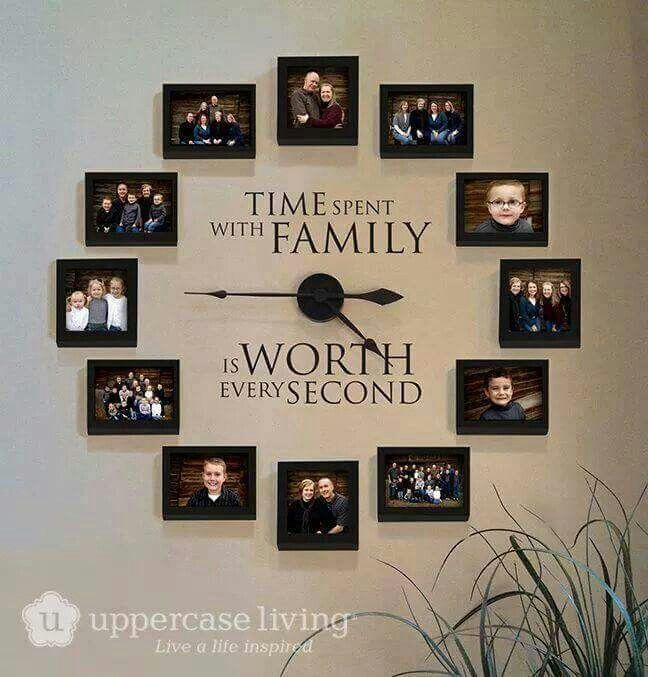 family portrait odds and ends in 2019 home decor family clock rh pinterest com
