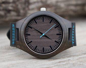 f13fd6e92650 Hombres reloj madera reloj de madera para los hombres reloj