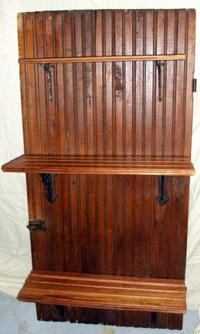 Ooak Repurposed Antique Cupboard Door Upcycled Cabinet Vintage Pantry Unusual Shelves