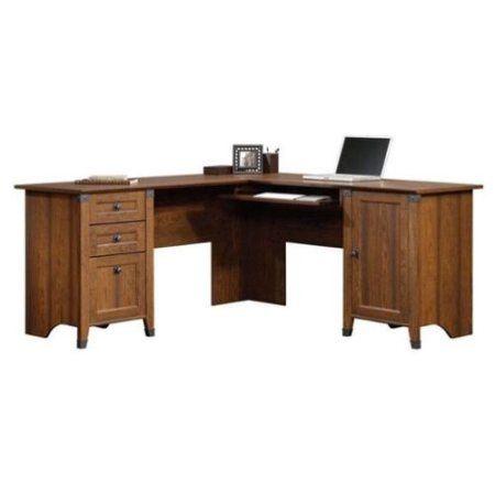 sauder carson forge corner computer desk cherry walmart com rh pinterest com mx