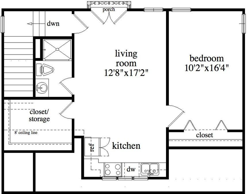 ALP09B2 House Plan Garage floor plans, Garage apartment