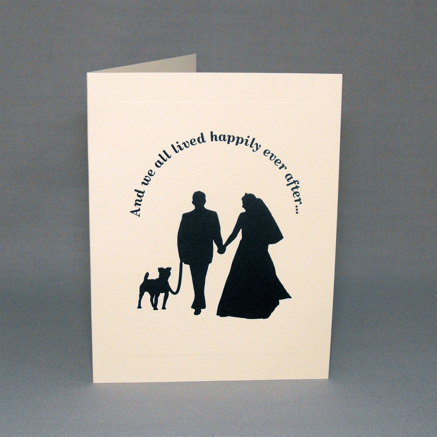Dog Wedding Cards Engagement or Wedding Invitations
