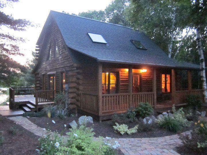 log cabin on a lake in michigan design ideas cabin log rh pinterest com