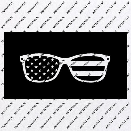 Glasses – Sunglasses Svg File – Glasses Original Svg Design – USA Flag Svg-Clip art – Sunglasses Vector Graphics – Svg For Cricut – Svg For Silhouette – SVG – EPS – PDF – DXF – PNG – JPG – AI