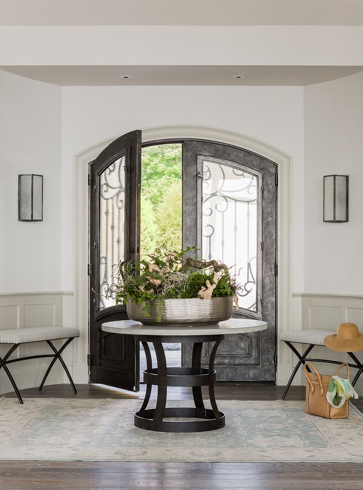 Arched Soffit Google Search Round Foyer Table Round Entry Table Entrance Decor