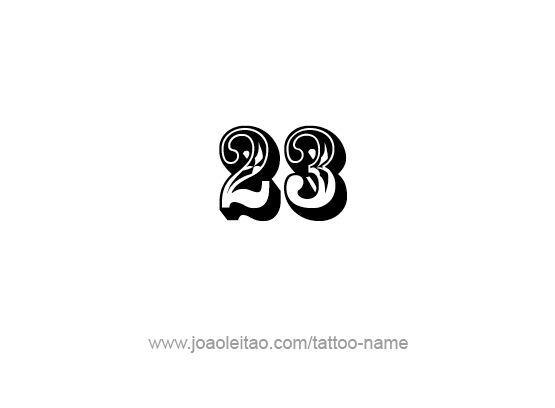 23 Front Tatuaje Numeros Tatuajes Increibles Tatuajes