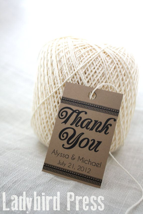 wedding custom thank you cards%0A Personalized Wedding Favor Thank You Tag  Printable  PDF  DIY