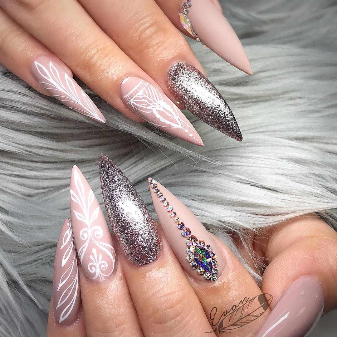 Pinterest Stacey Belle Pointy Nail Designs Matte Nails Design Pointy Nails