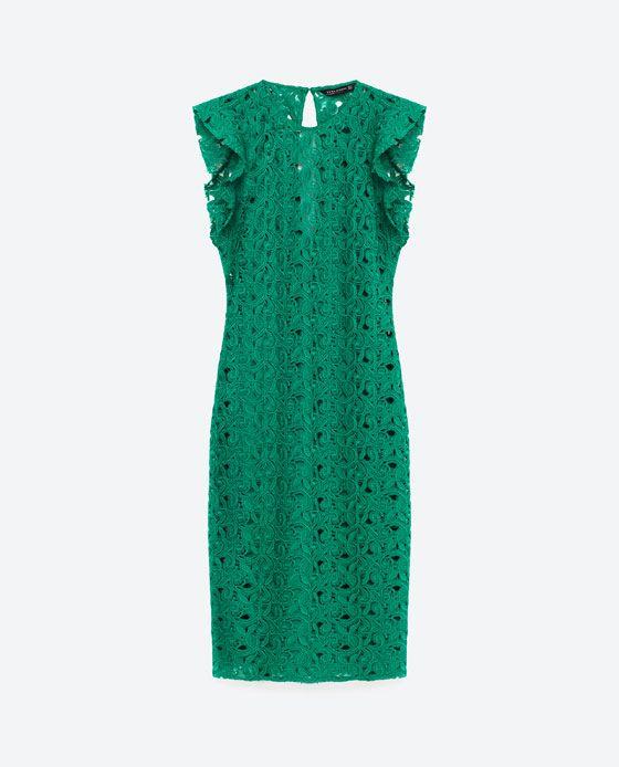 Vestido verde fiesta zara