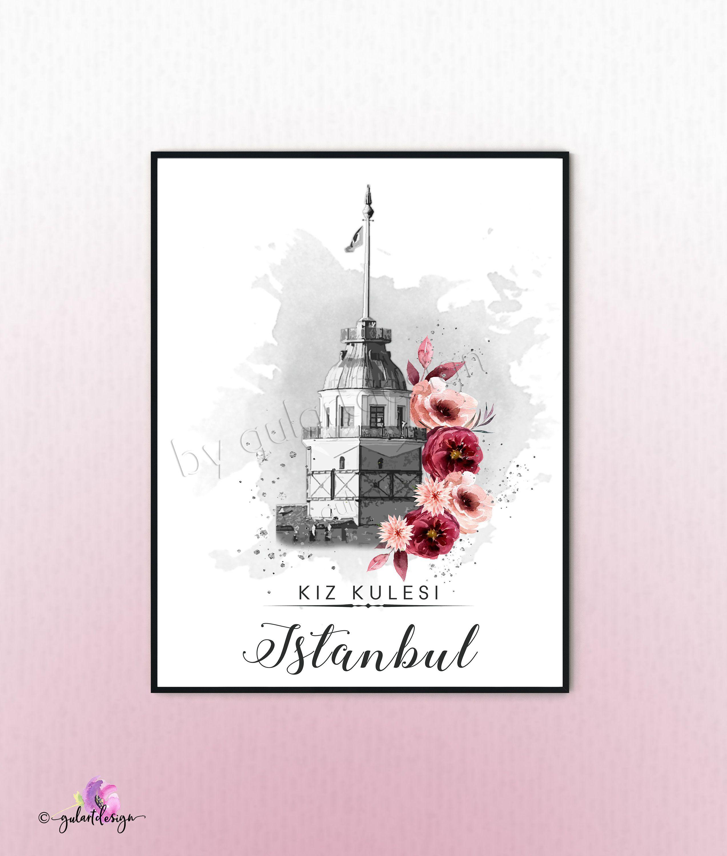 Istanbul Kiz Kulesi Leanderturm Turkey Turkiye Poster