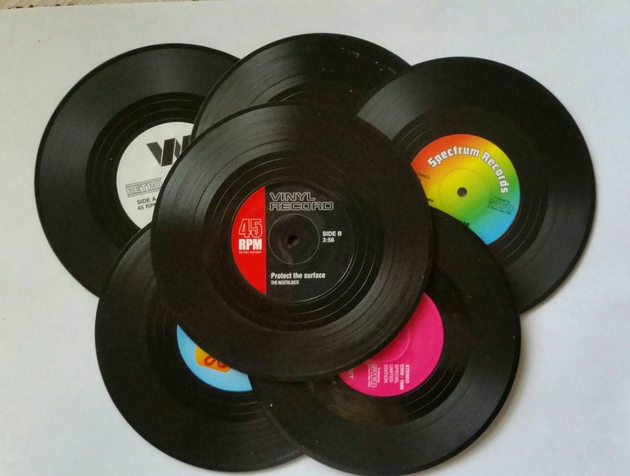 Excited To Share The Latest Addition To My Etsy Shop Mini Vinyl Record Retro Style Vintage Style Coasters Coaster Furniture Vinyl Record Crafts Record Crafts