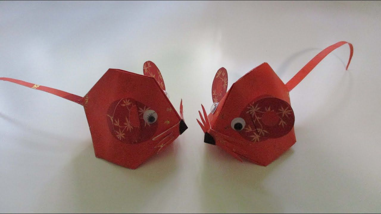 Cny Tutorial No 104 Hongbao Mouse Youtube Chinese New Year Decorations Chinese New Year Crafts For Kids Mouse Crafts