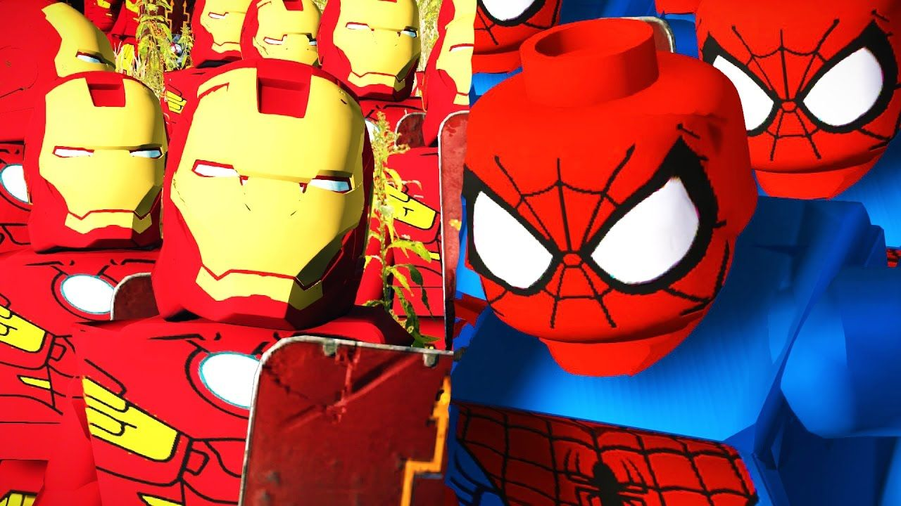 Spiderman Lego Versus Iron Man Lego - Massive Superheroes Battle