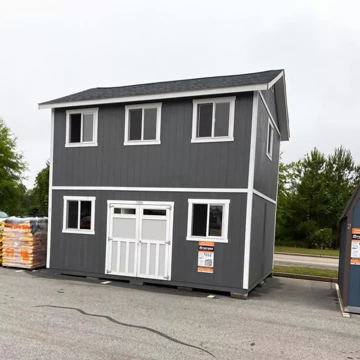 People Are Turning Home Depot Tuff Sheds Into Affordable Two Story Tiny Homes Shed To Tiny House Home Depot Tiny House Shed Homes